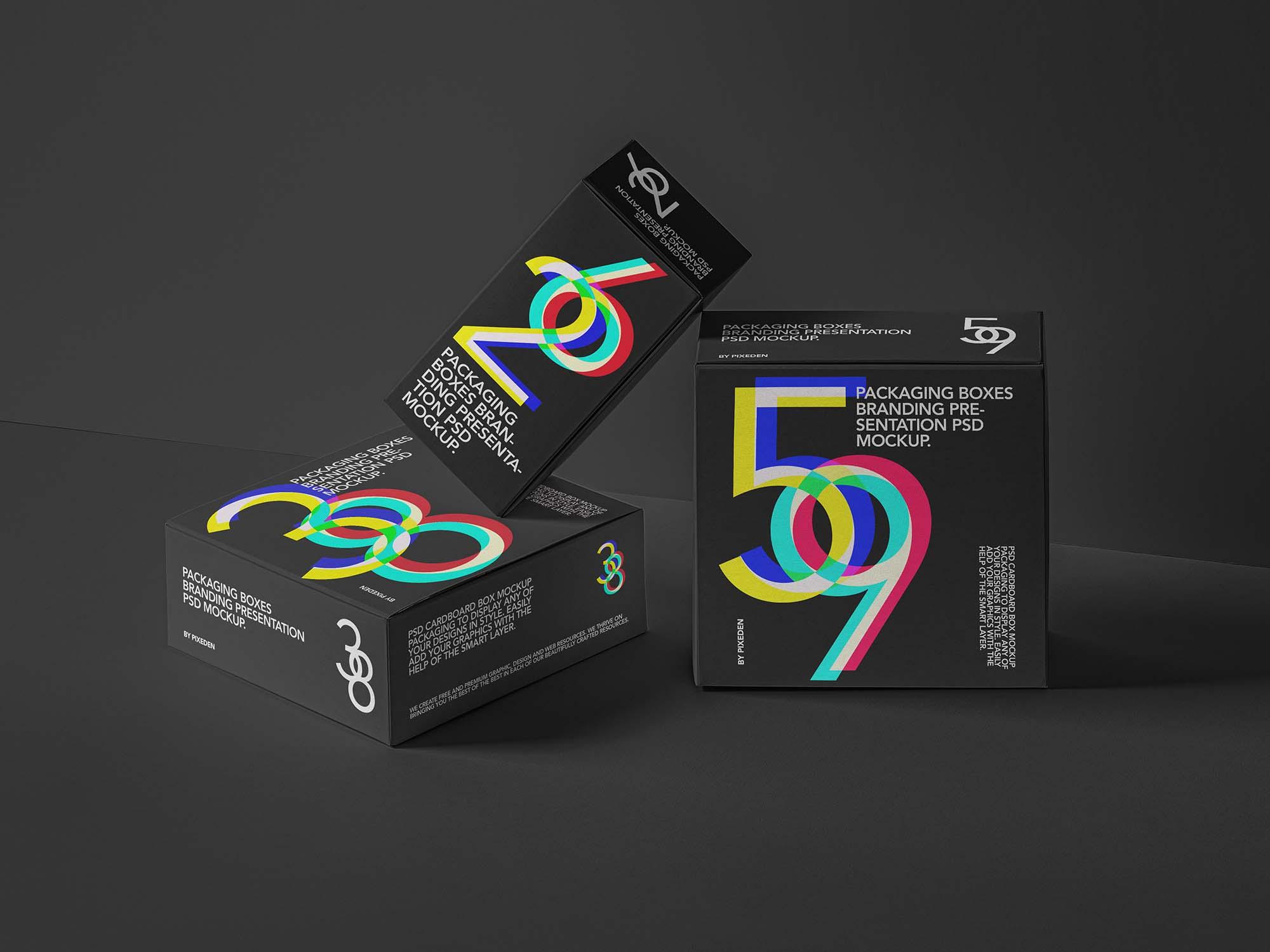 Packaging Boxes Mockup 2