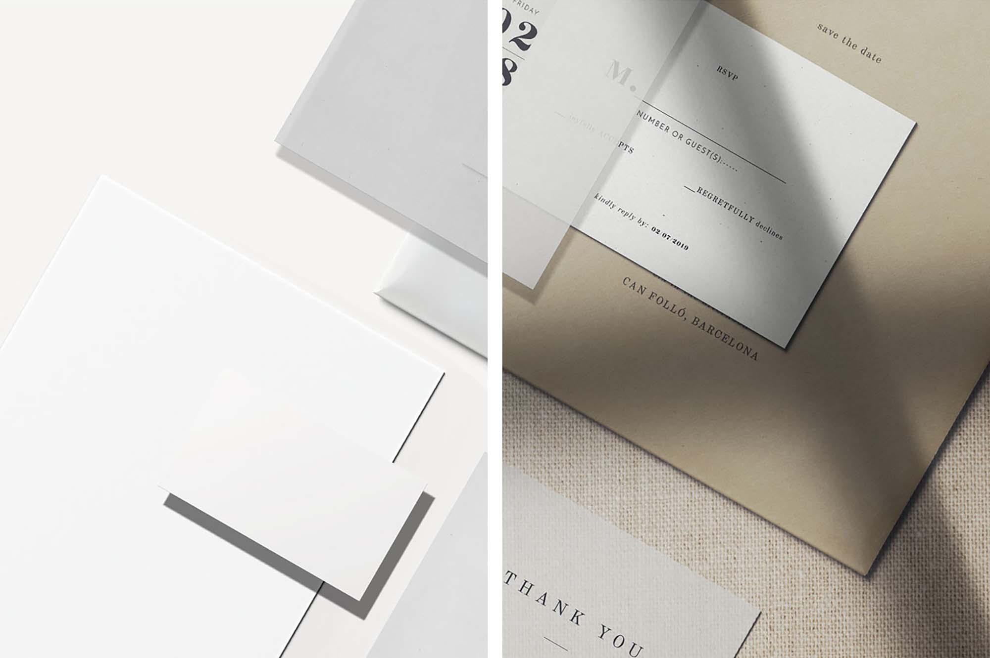 Paper Scene Branding Mockup 3