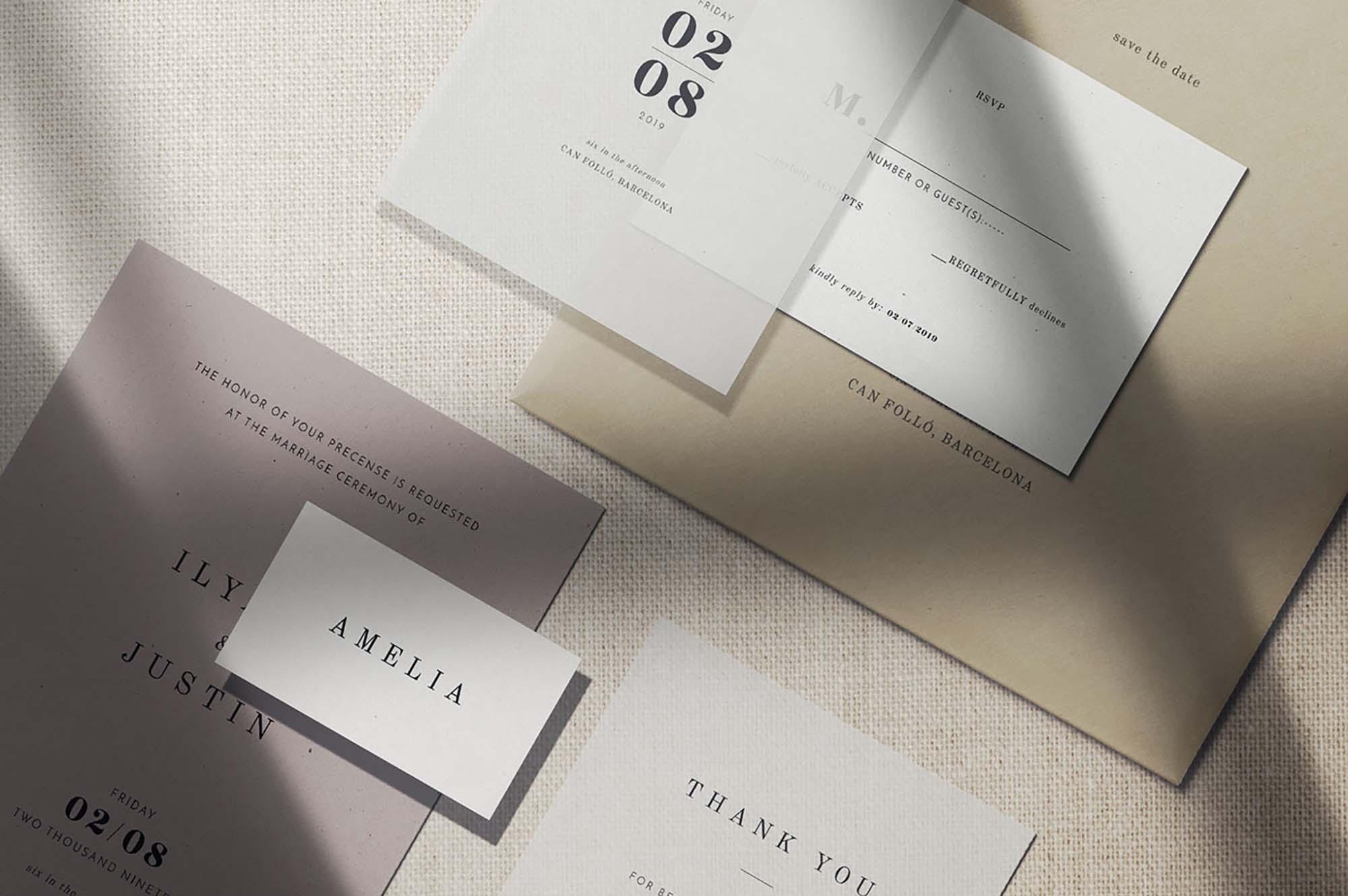 Paper Scene Branding Mockup