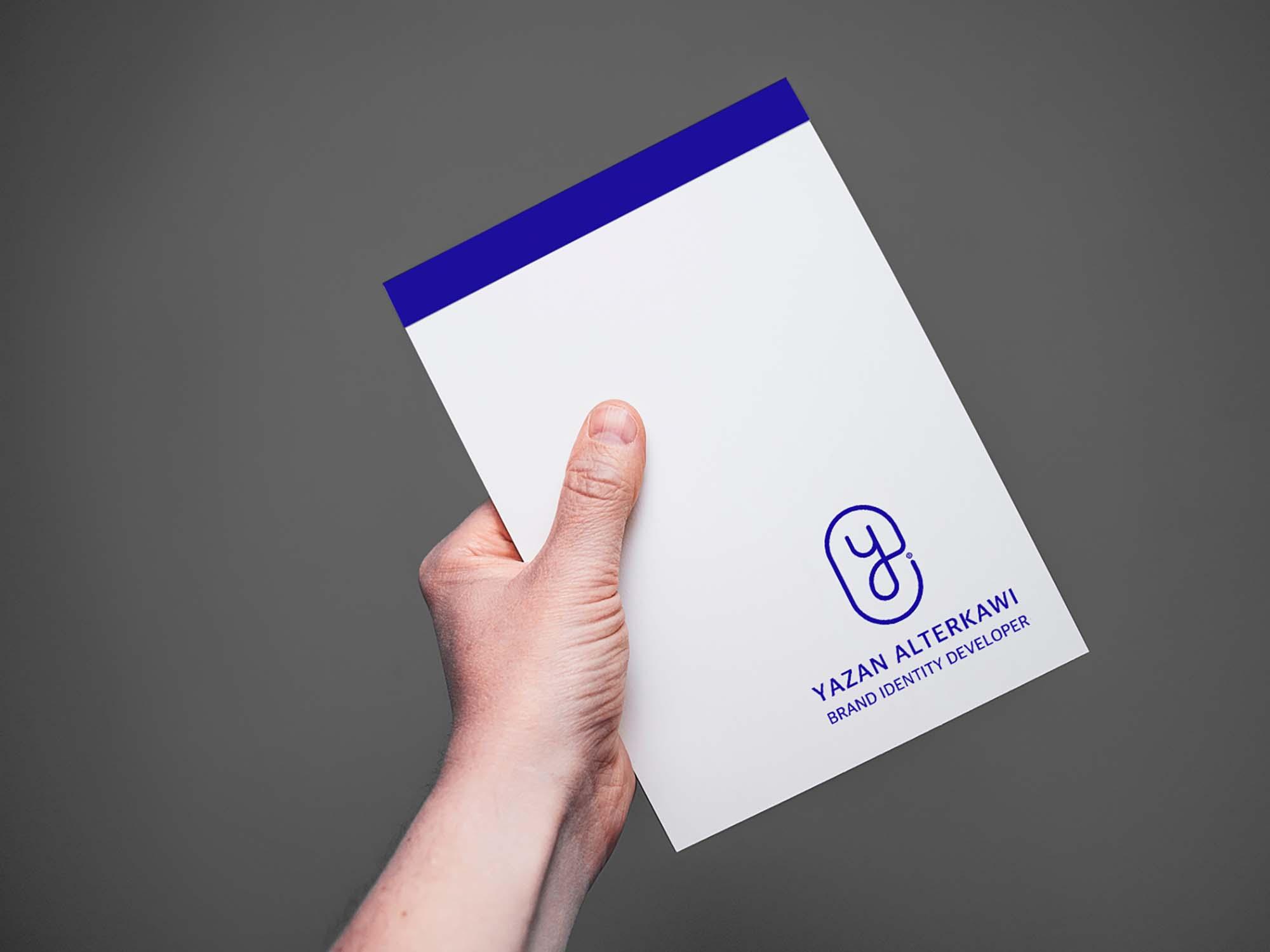 Paper in Hand Mockup