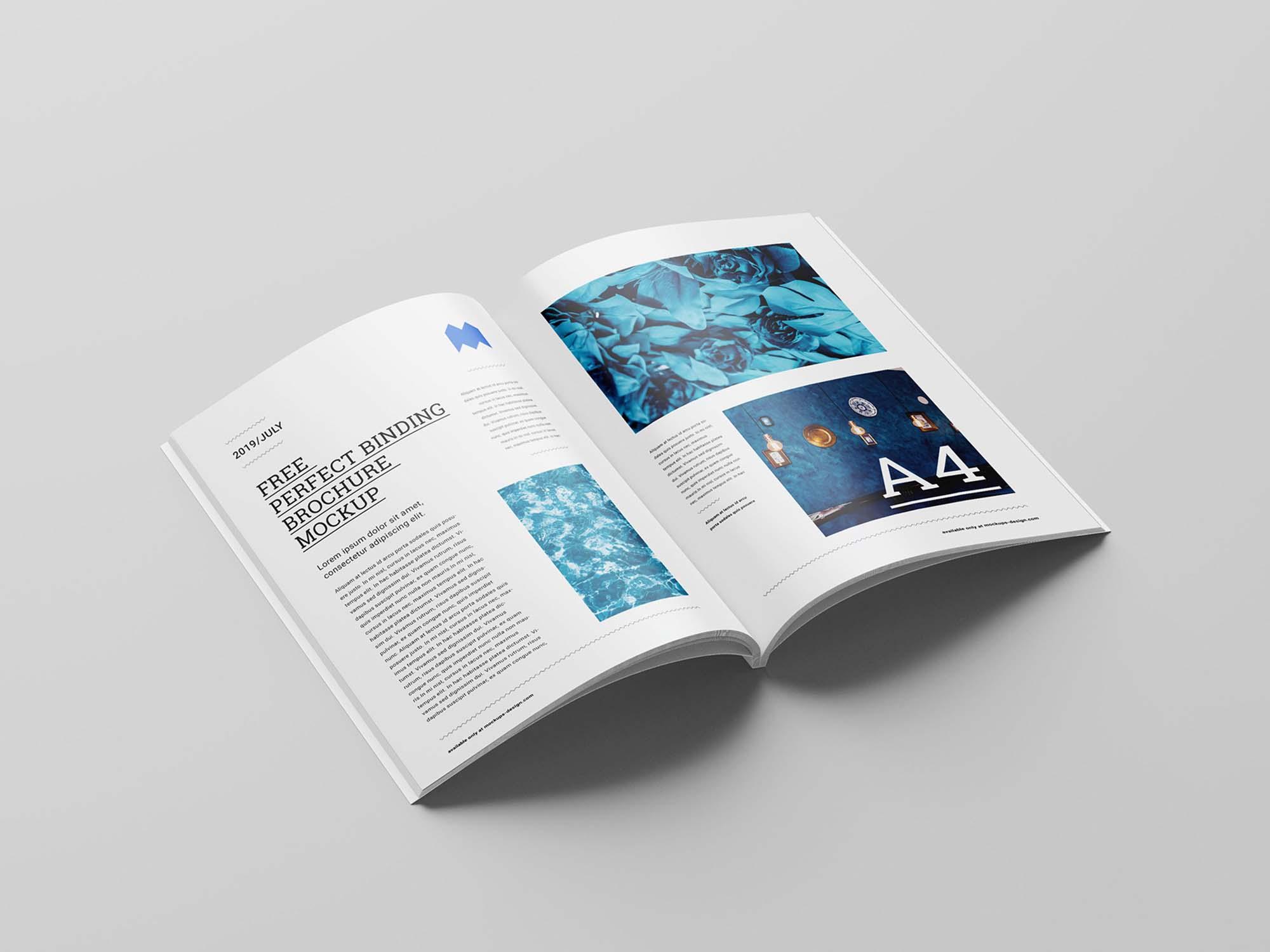 Perfect Binding Brochure Mockup 3