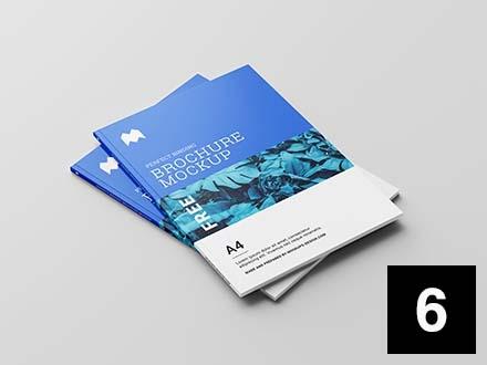 Perfect Binding Brochure Mockup