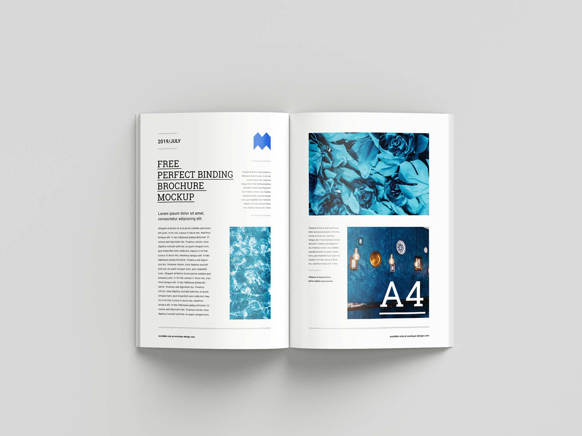 Perfect Binding Brochure Mockup 5