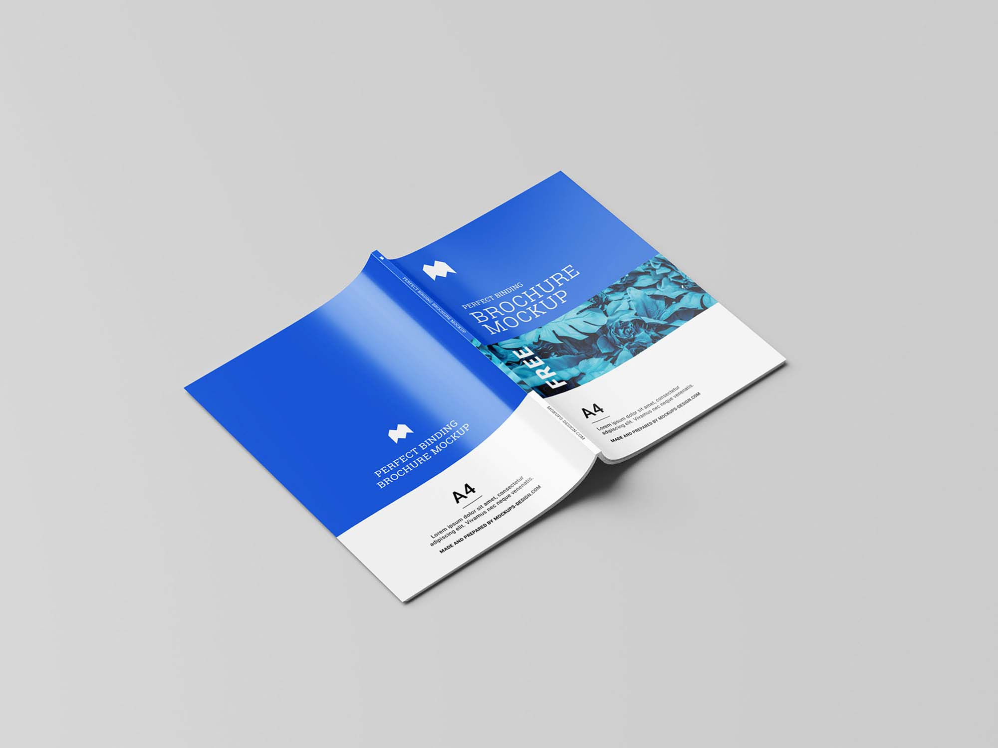 Perfect Binding Brochure Mockup 6