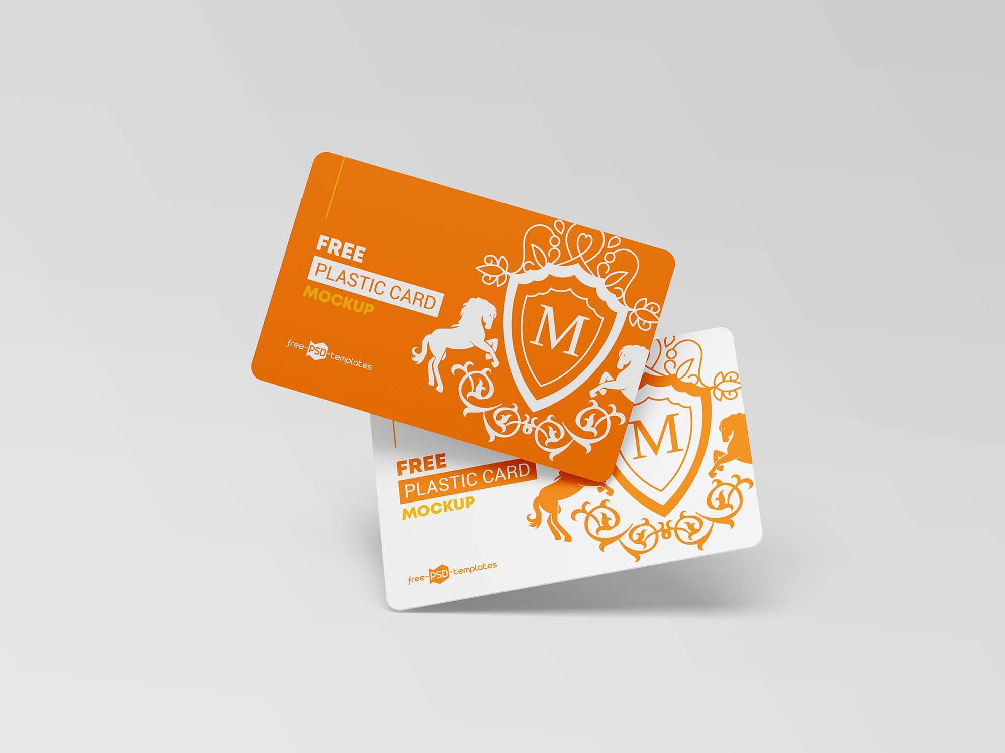 Plastic Cards Mockup 3