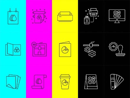 Printshop Vector Icons