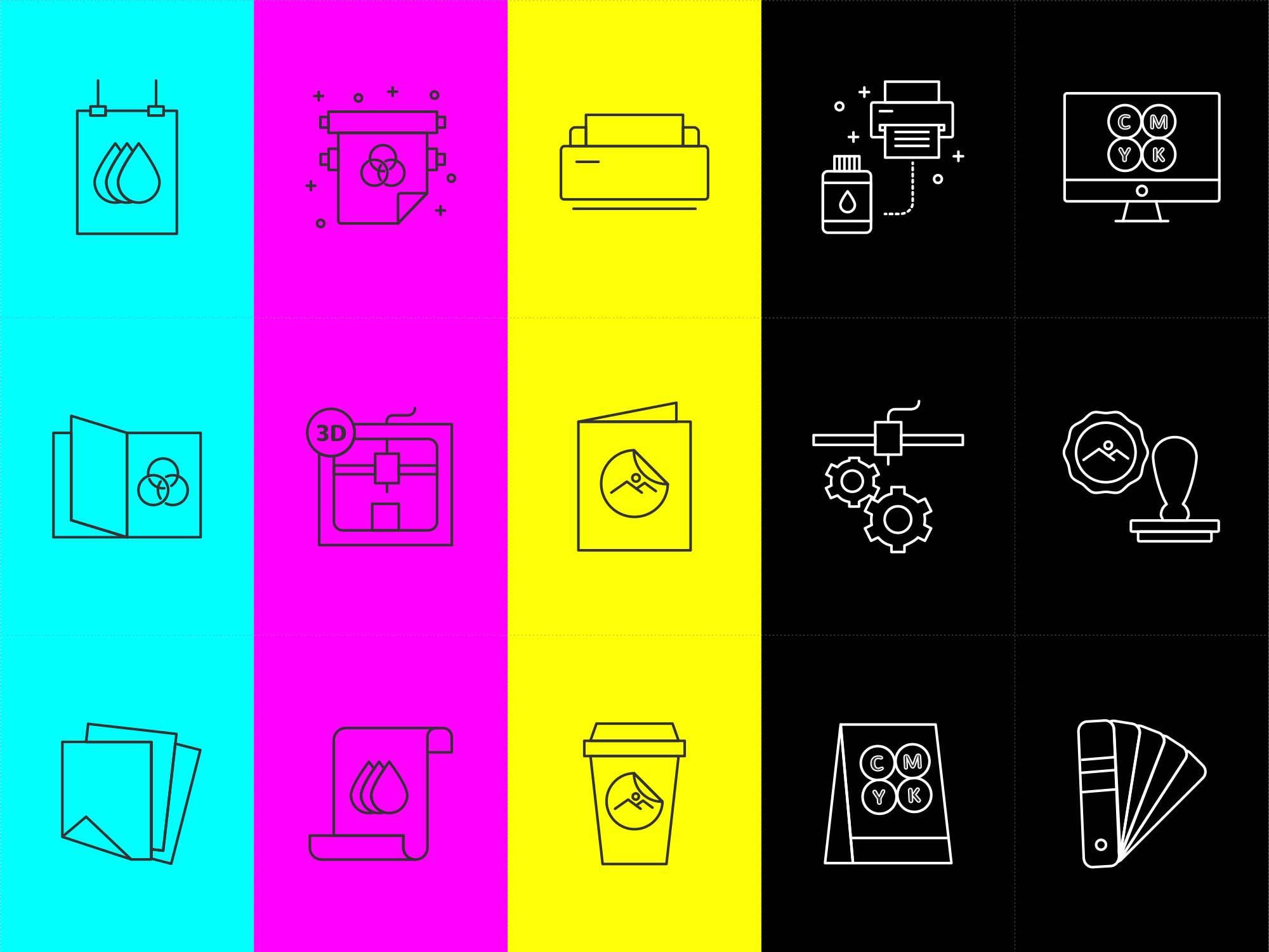 Printshop Vector Icons