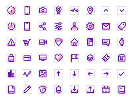 Pure Sugar Vector Icons