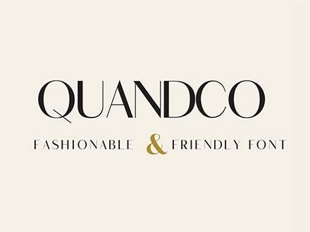 Quandco Sans Serif Font