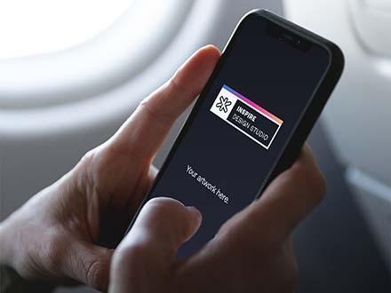 Realistic Holding iPhoneX Mockup