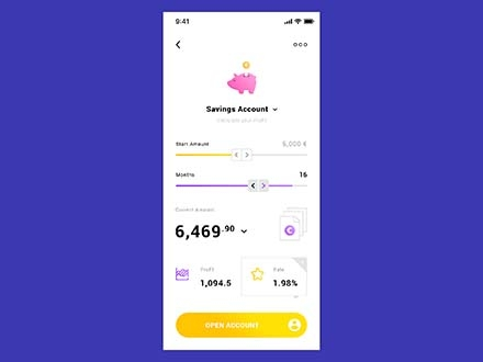 Savings Account App Template