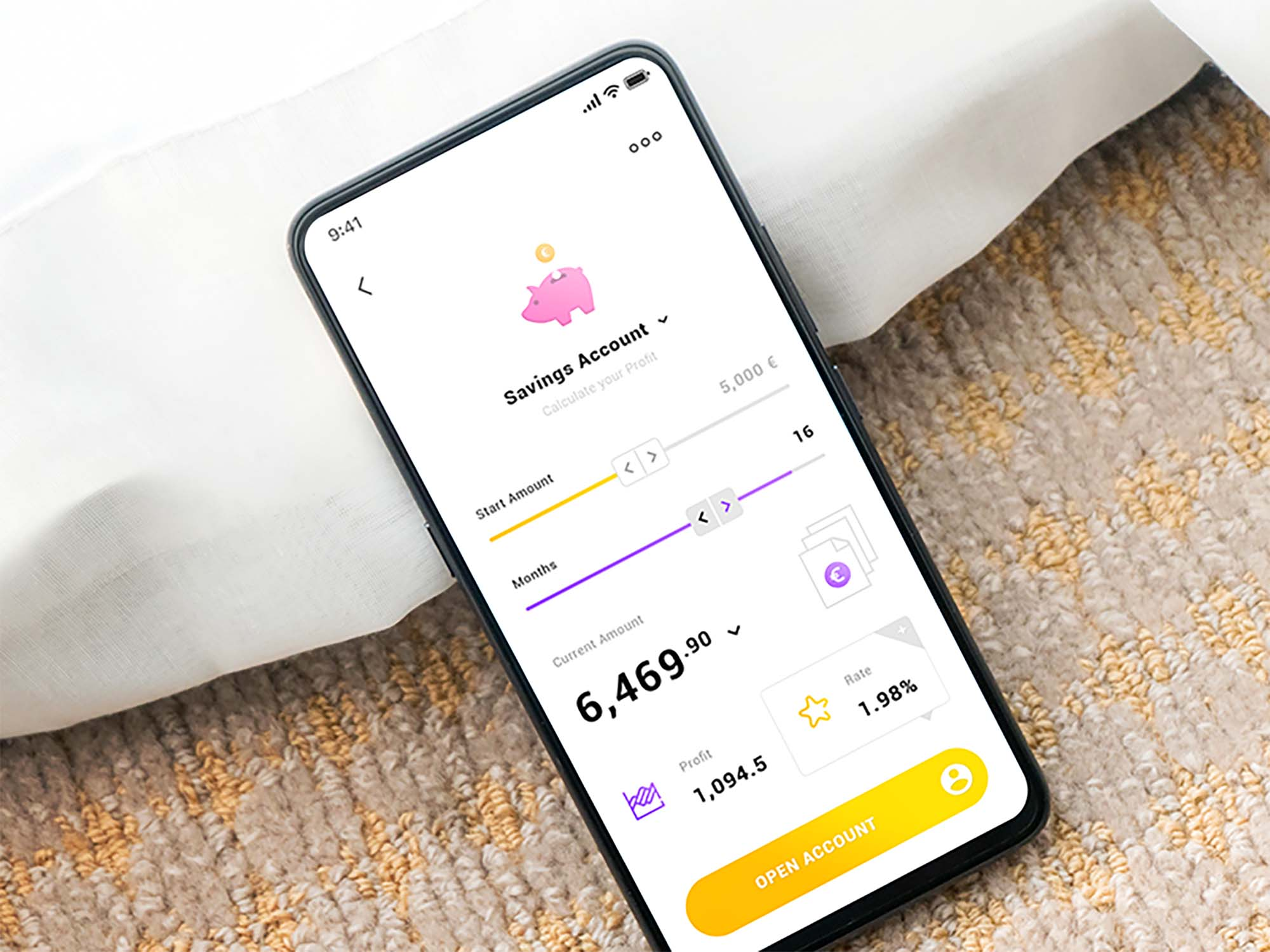 Savings Account App Template