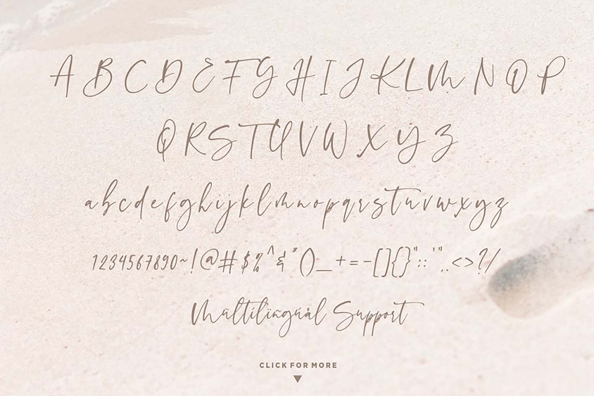 Sinthya Script Font Characters