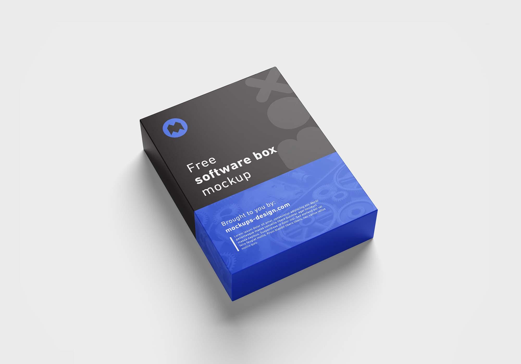 Software Box Mockup 3