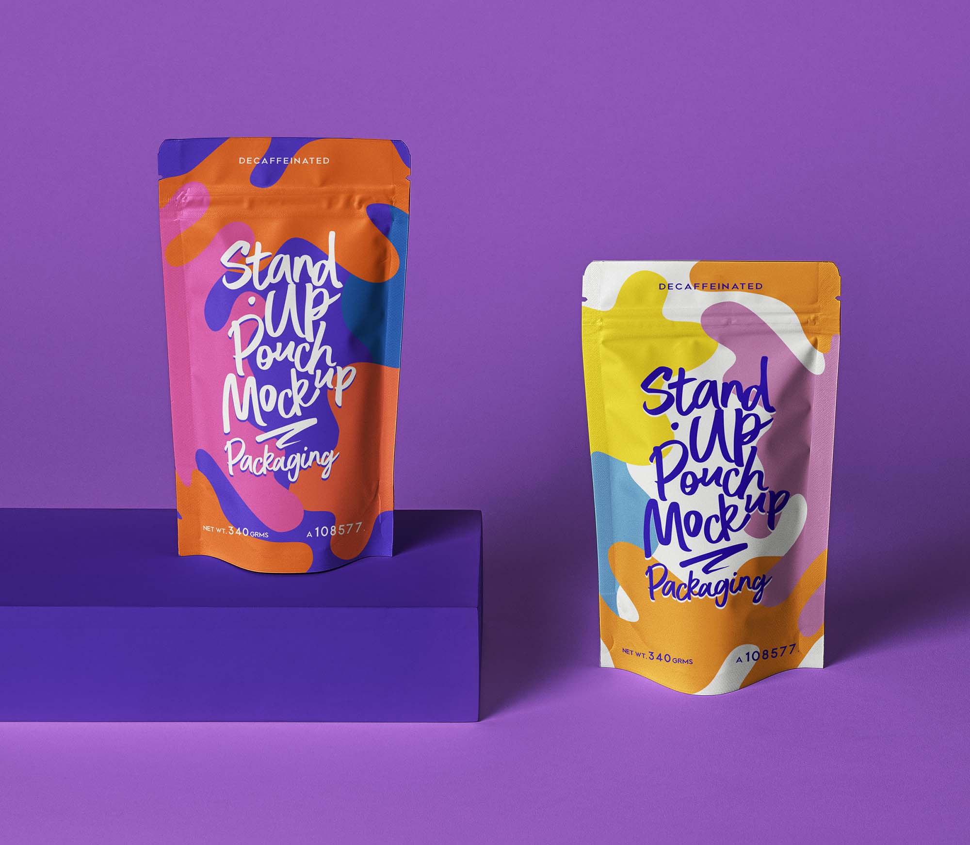 Stand Up Pouch Packaging Mockup 3