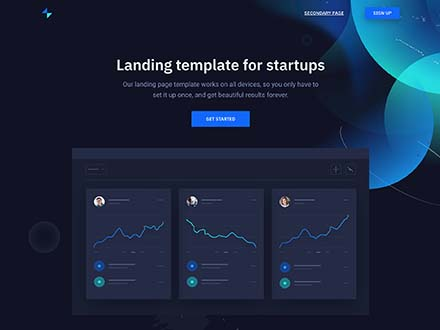 Storm Landing Page Template for Startups