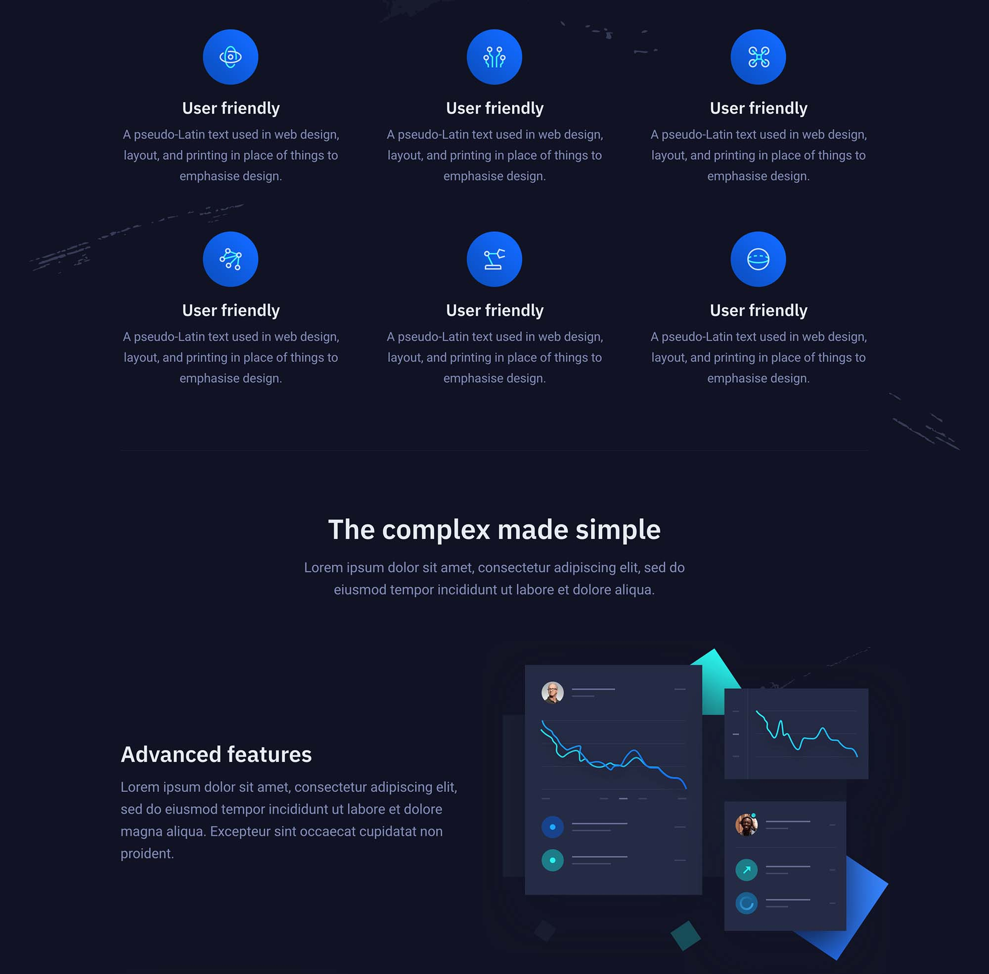 Storm Landing Page Template for Startups 2