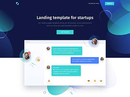 Supreme Startups Landing Page Template