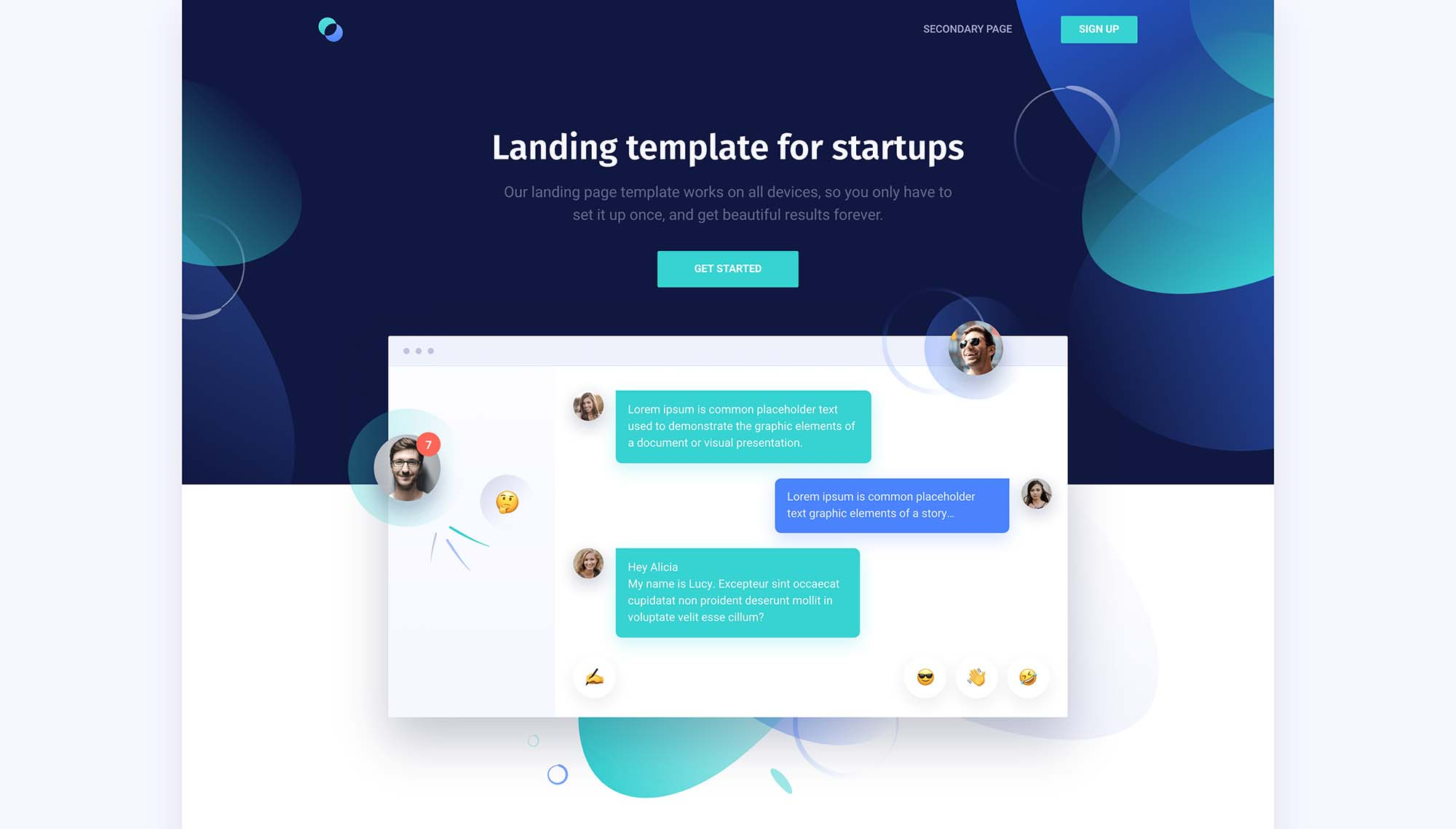 Supreme Startups Landing Page Template 1