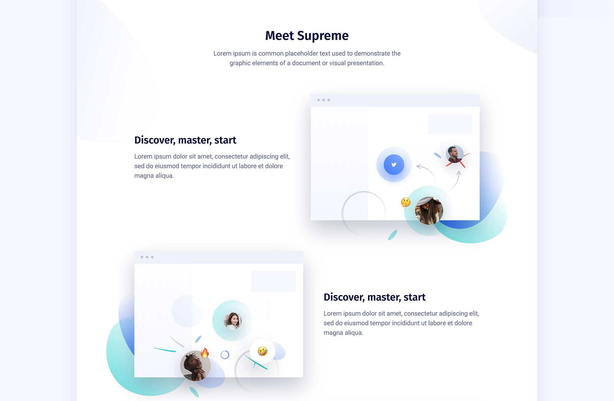 Supreme Startups Landing Page Template 3