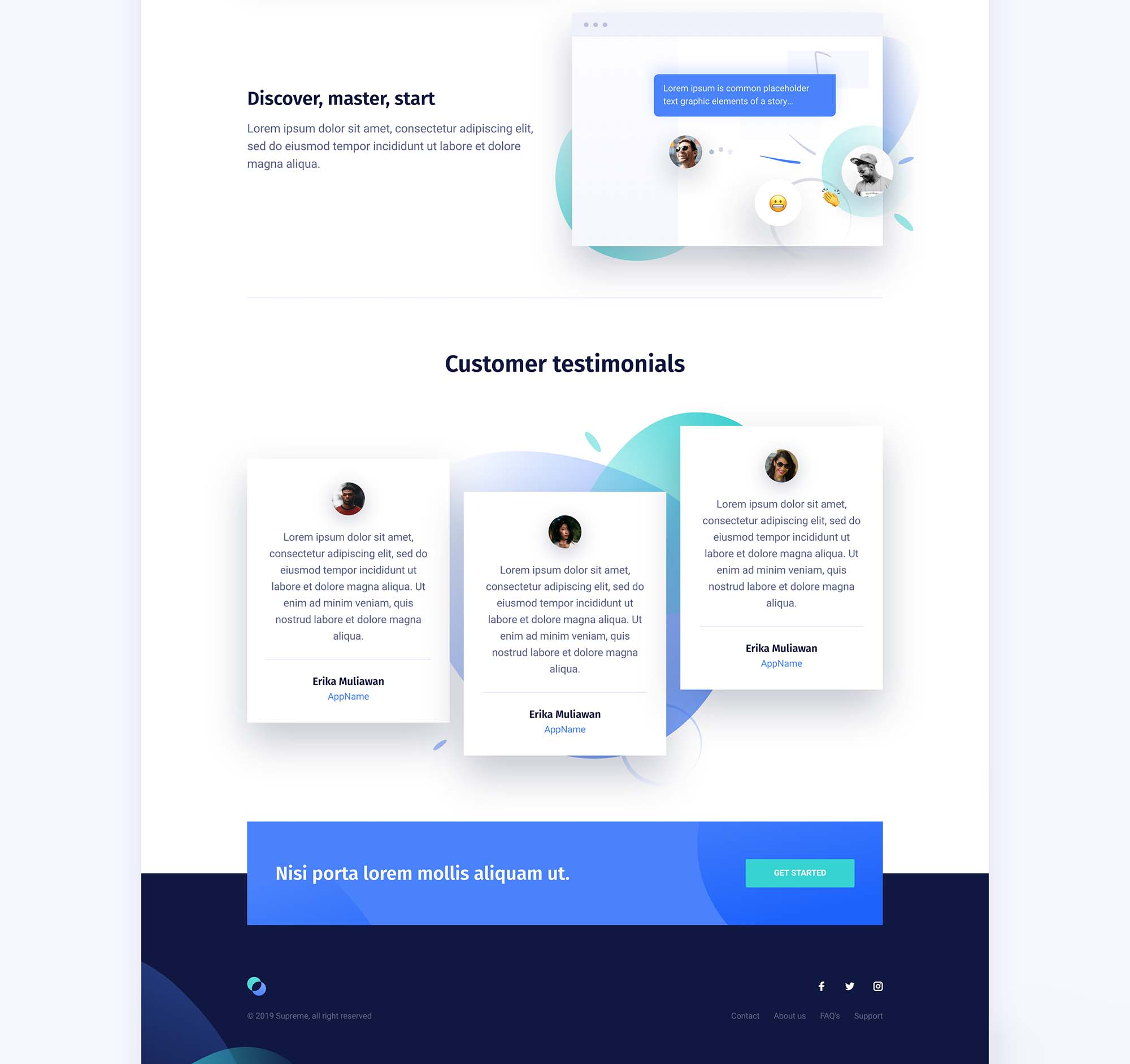 Supreme Startups Landing Page Template 4