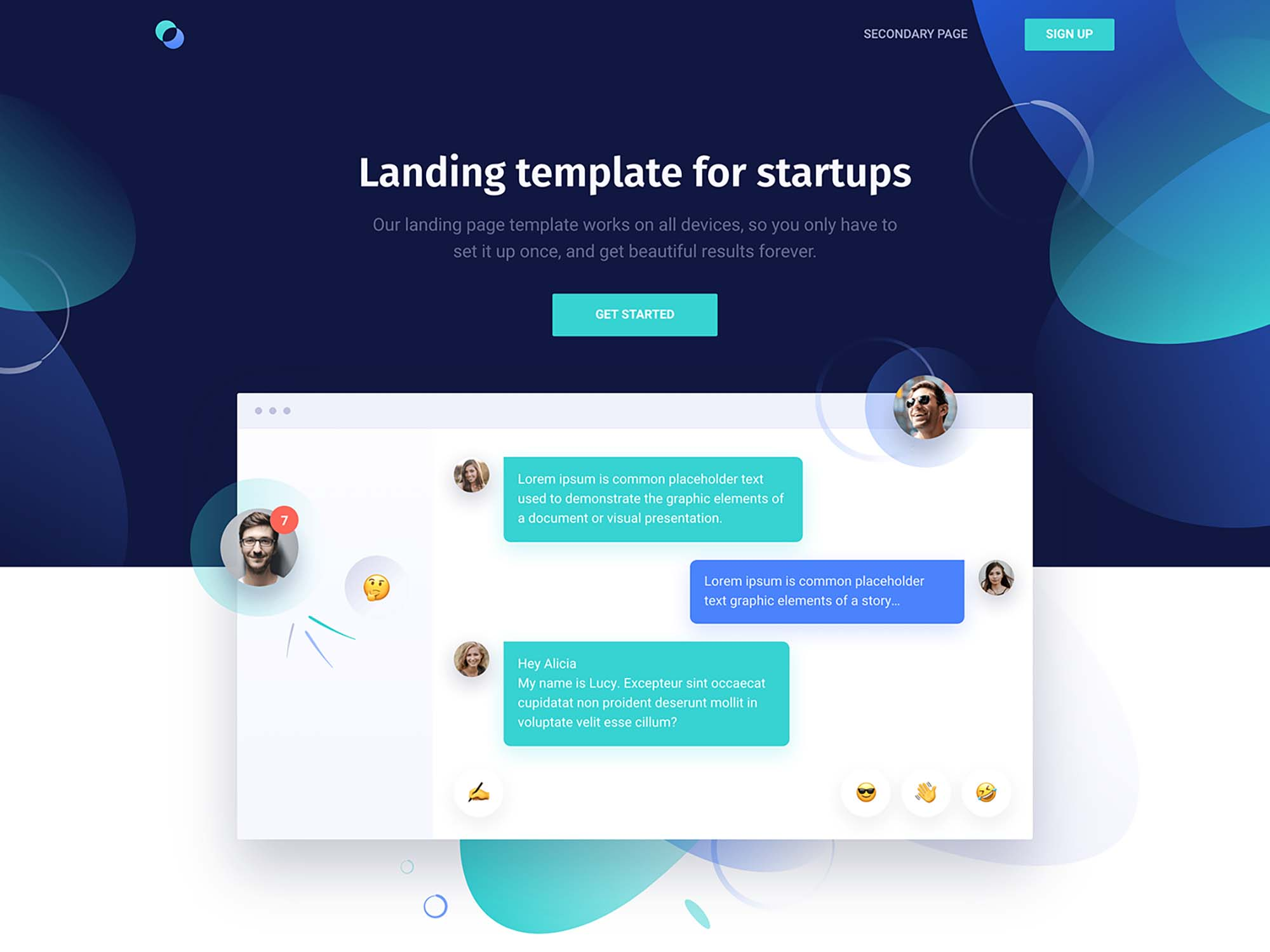 Supreme Landing Page Template For Startups Html