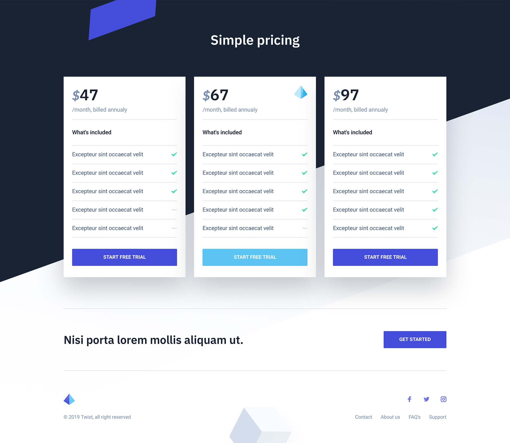 Twist Landing Page Template for Startups 2
