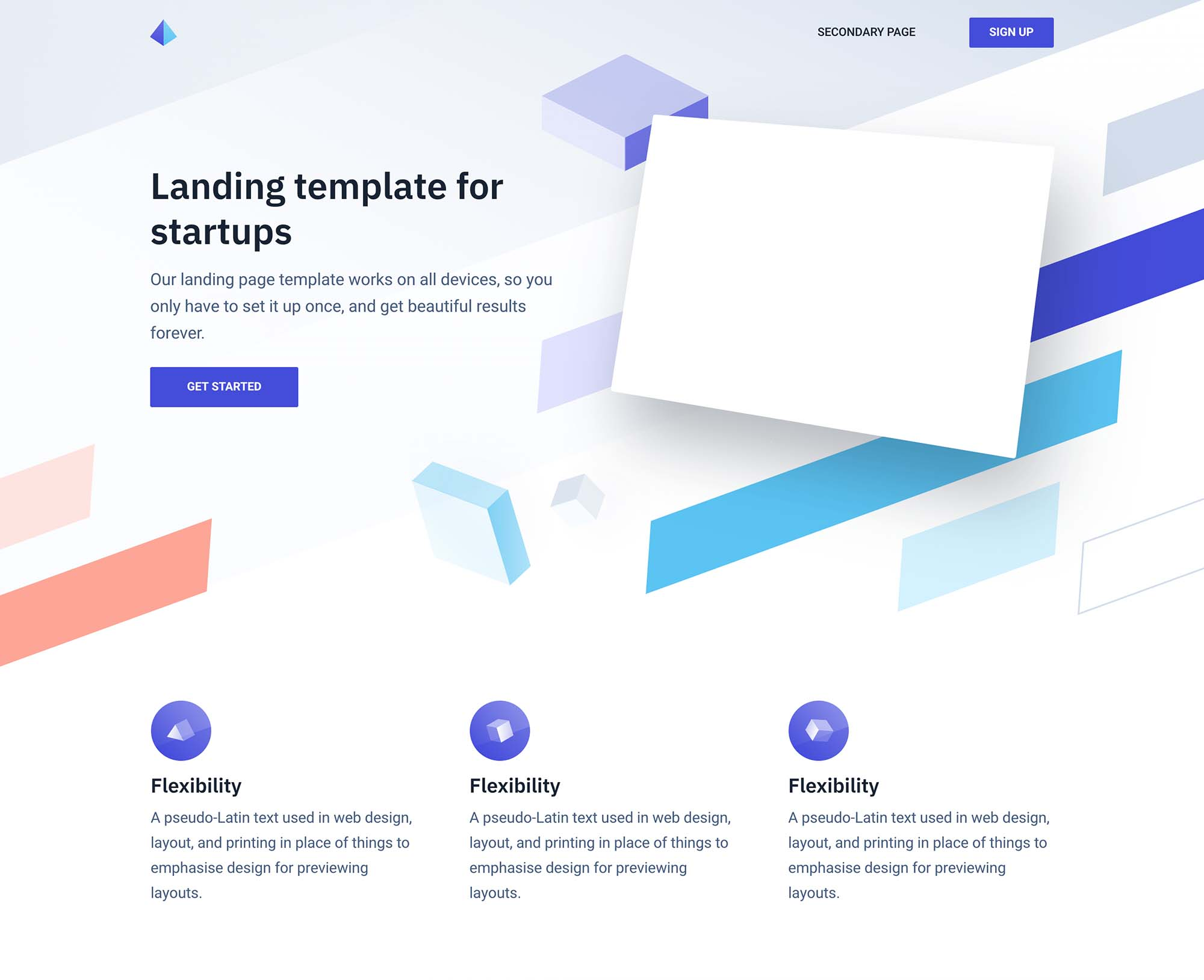 Twist Landing Page Template for Startups