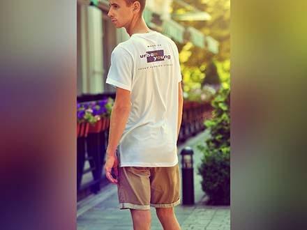 Urban Style Men T-Shirt Mockup