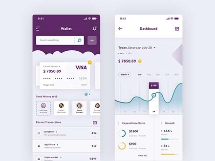 Wallet & Dashboard App Template