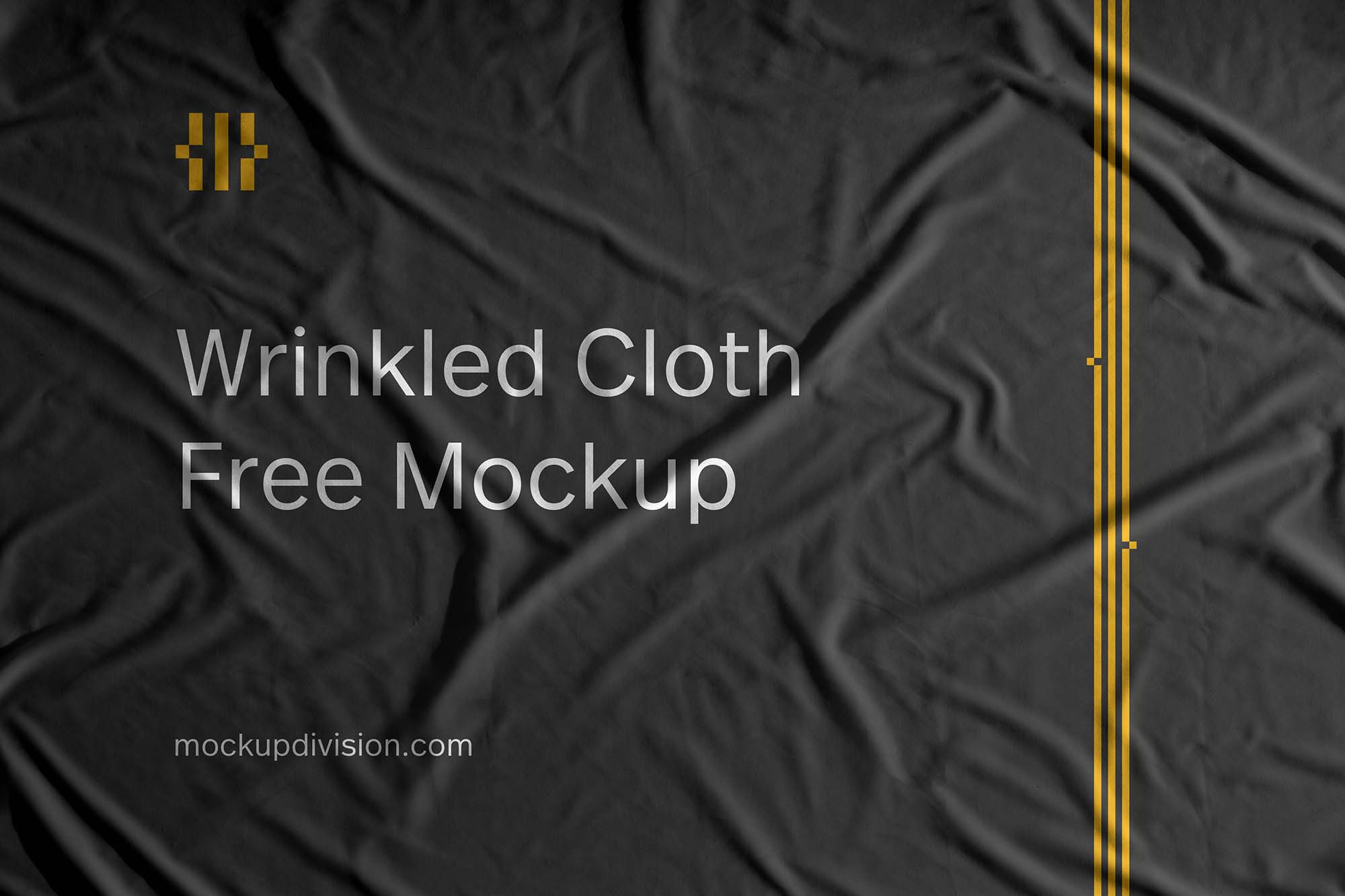 Wrinkled Cloth Mockup 2