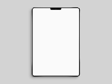 iPad Mockup Top View