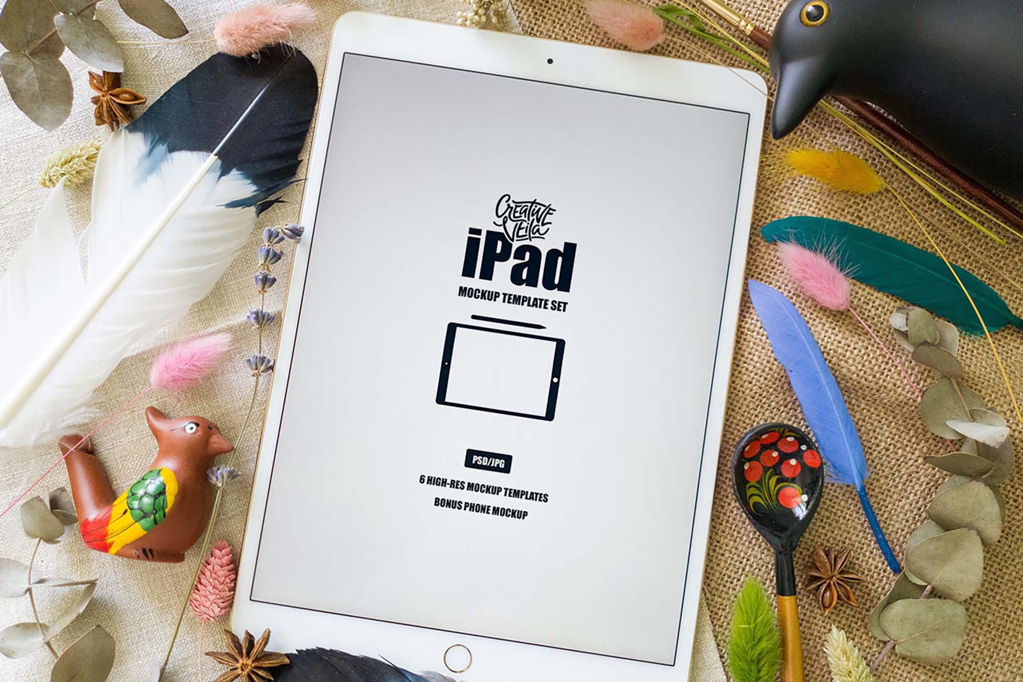 iPad Mockup Template 1