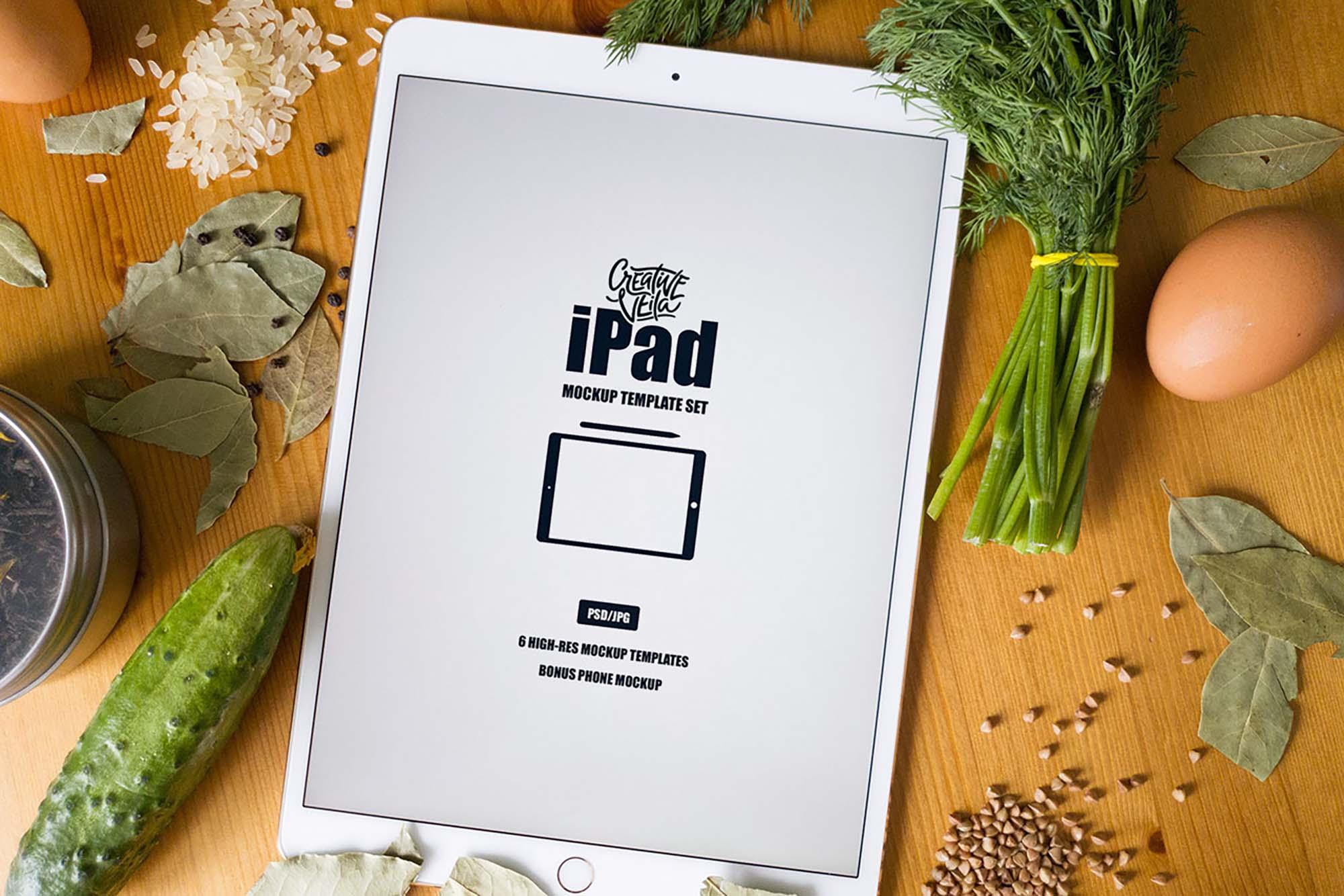 iPad Mockup Template 2