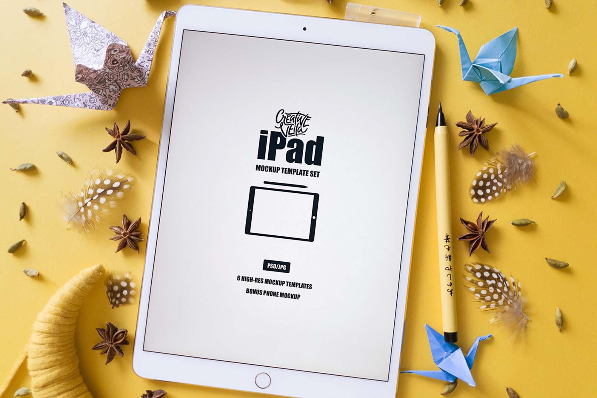 iPad Mockup Template 3