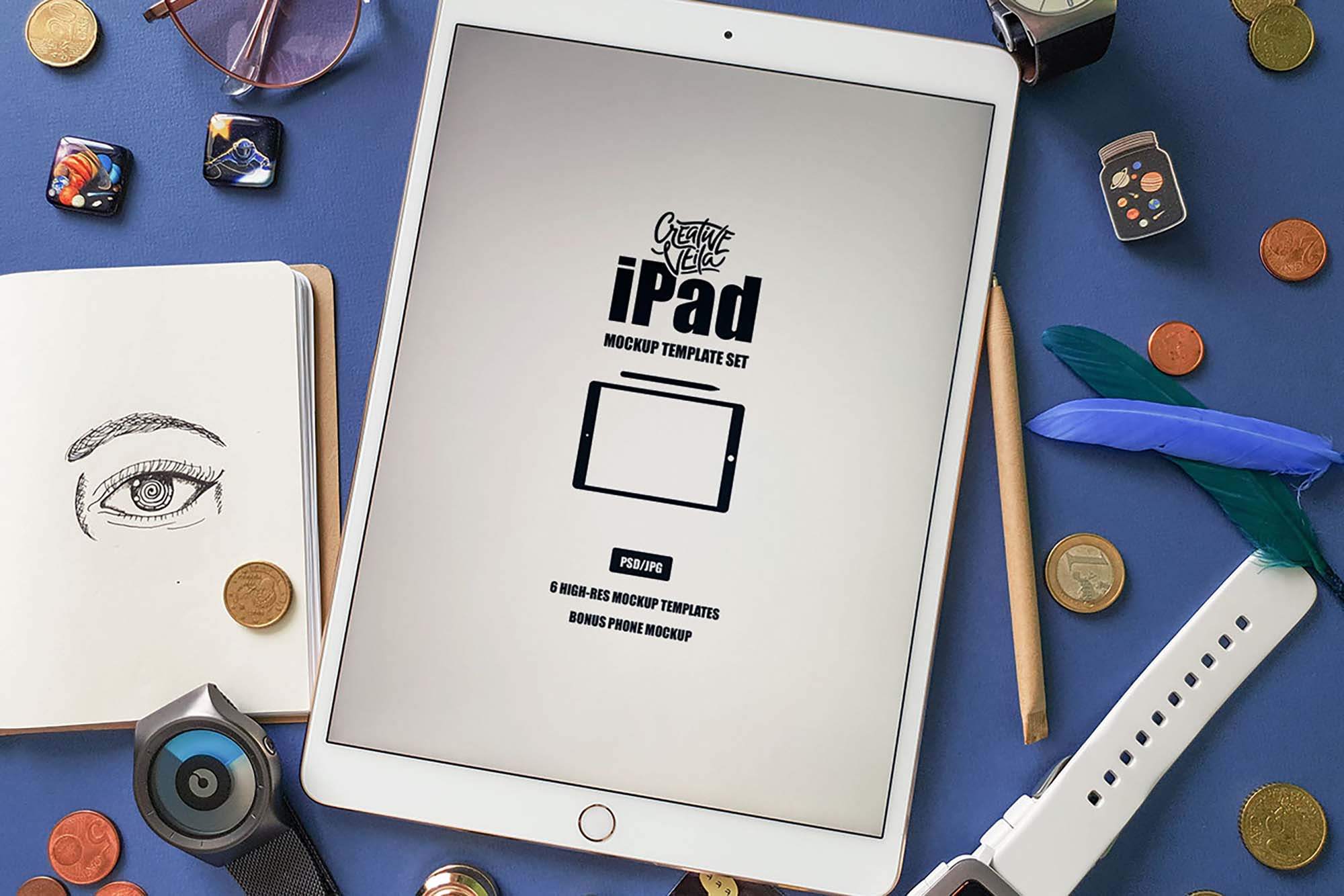 iPad Mockup Template 4