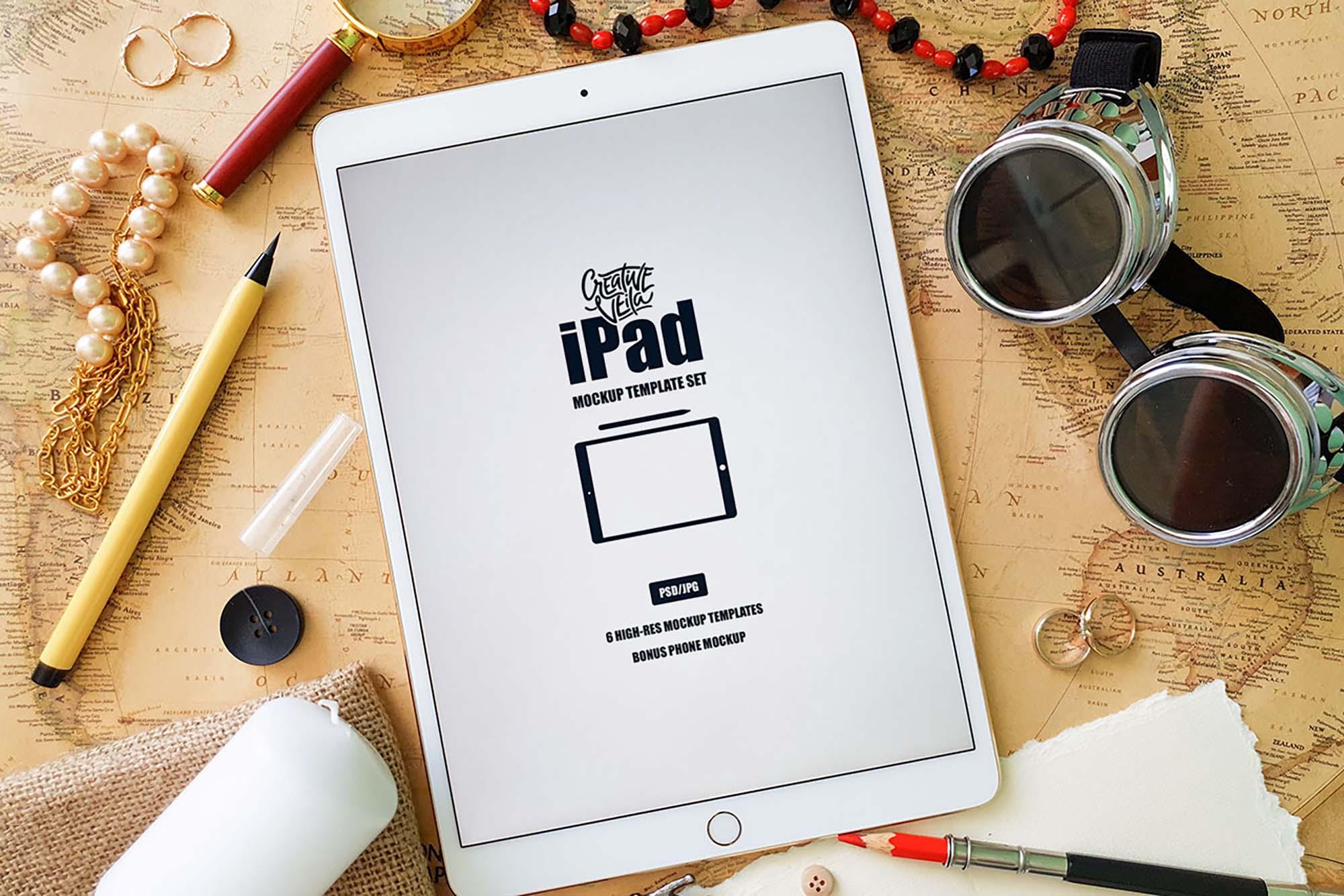 iPad Mockup Template 6