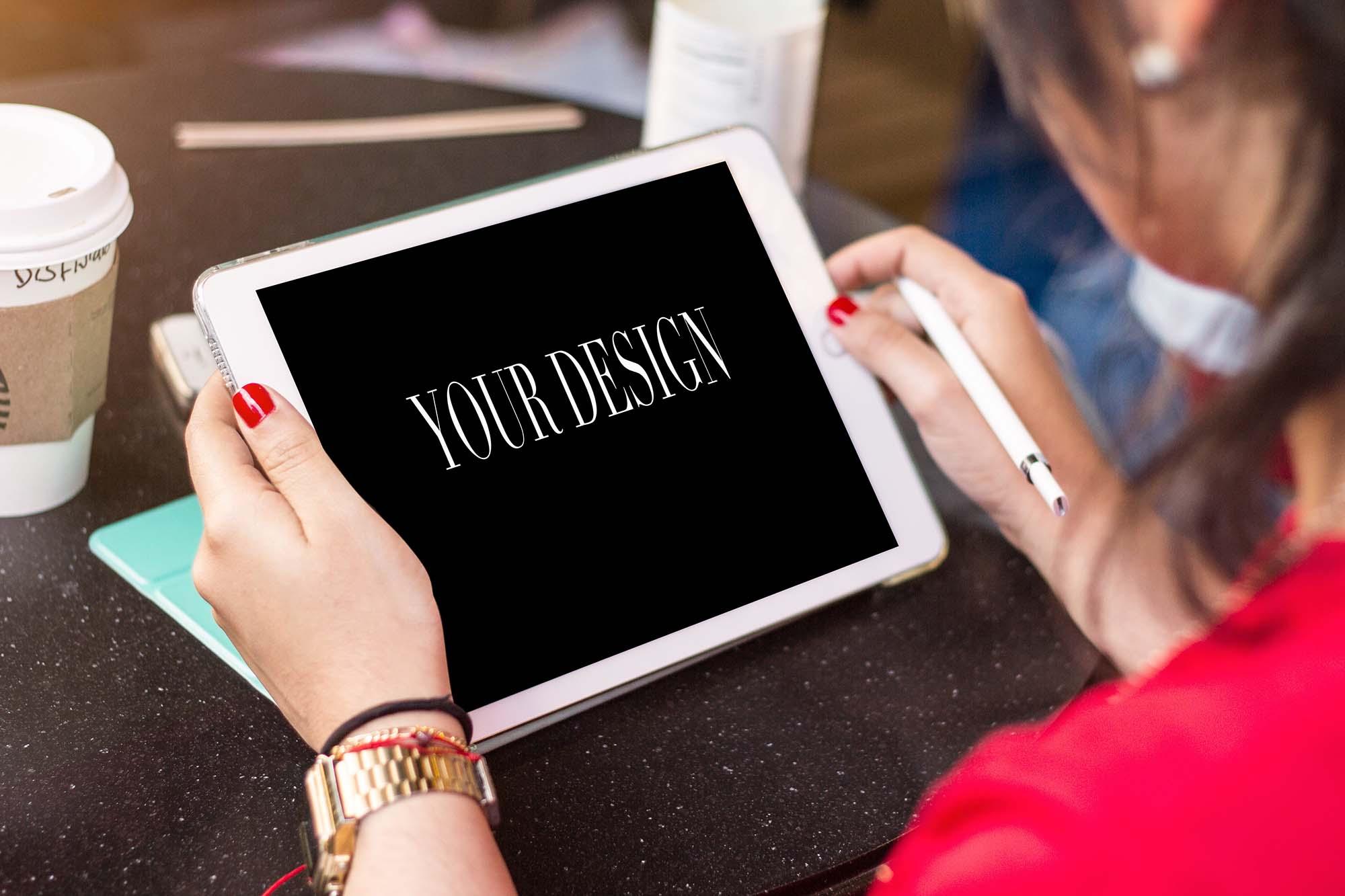 iPad in Hands Mockup