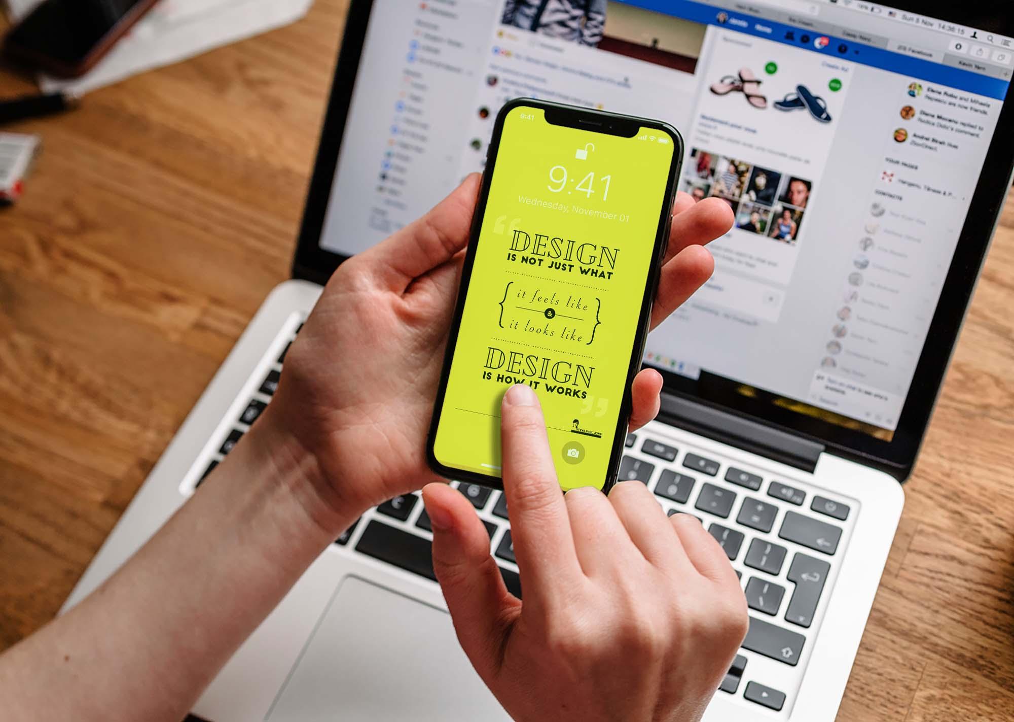 iPhone X Realistic Mockup 2