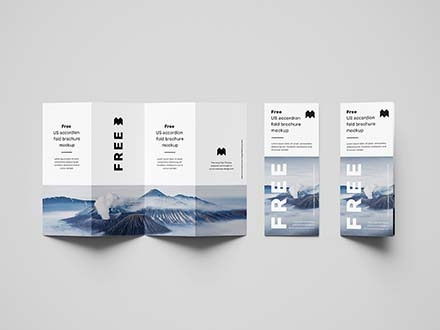 Accordion Brochure Mockup