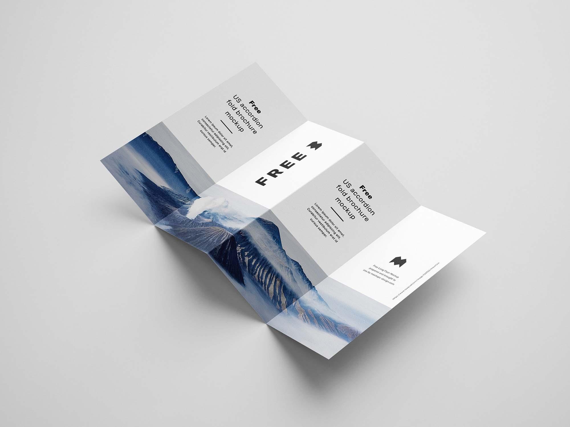 Accordion Brochure Mockup