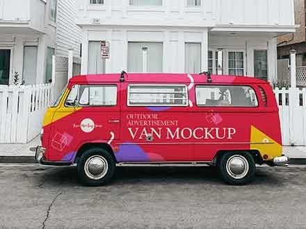 Advertisement Van Mockup
