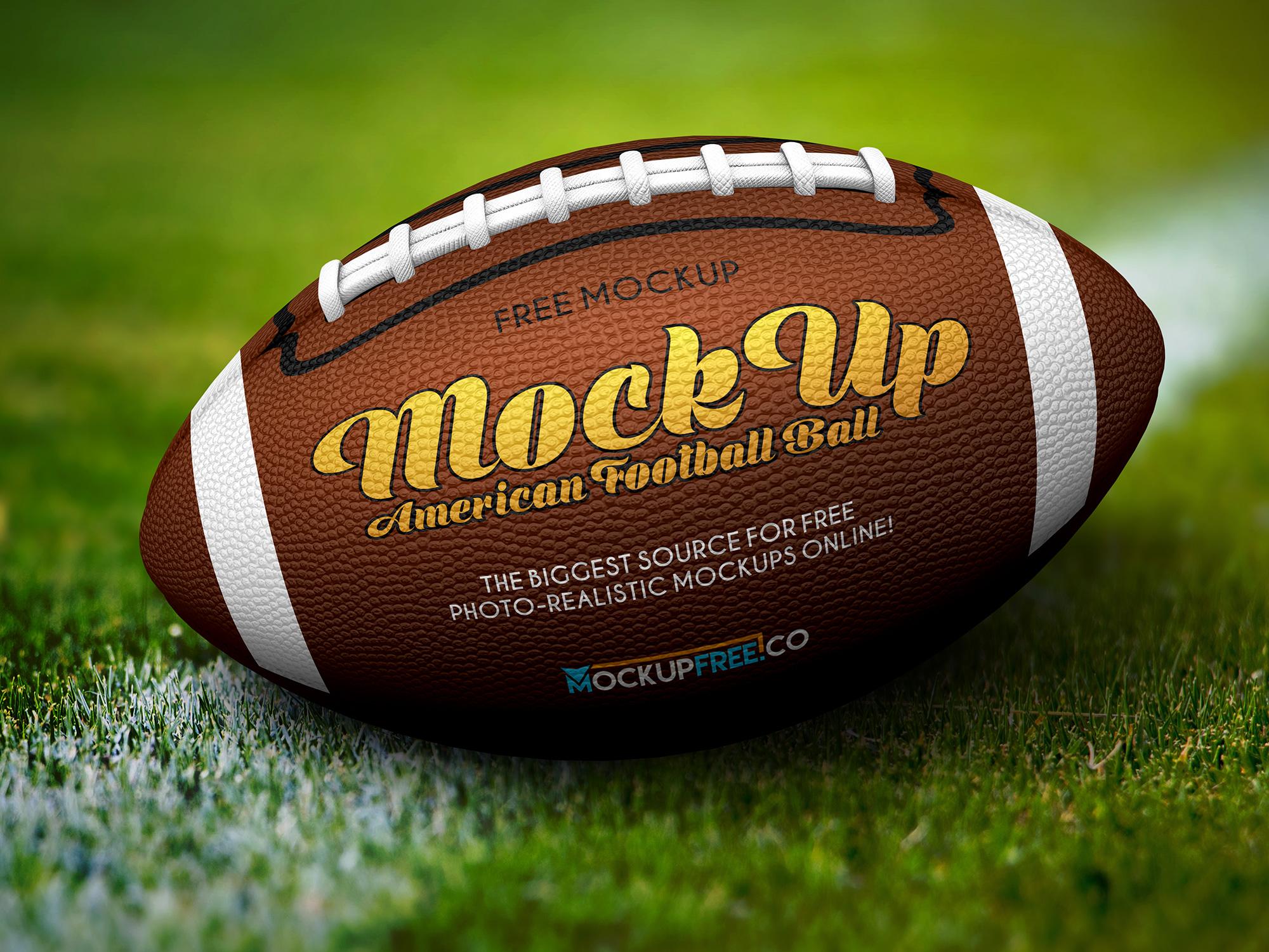 Free American Football Ball Psd