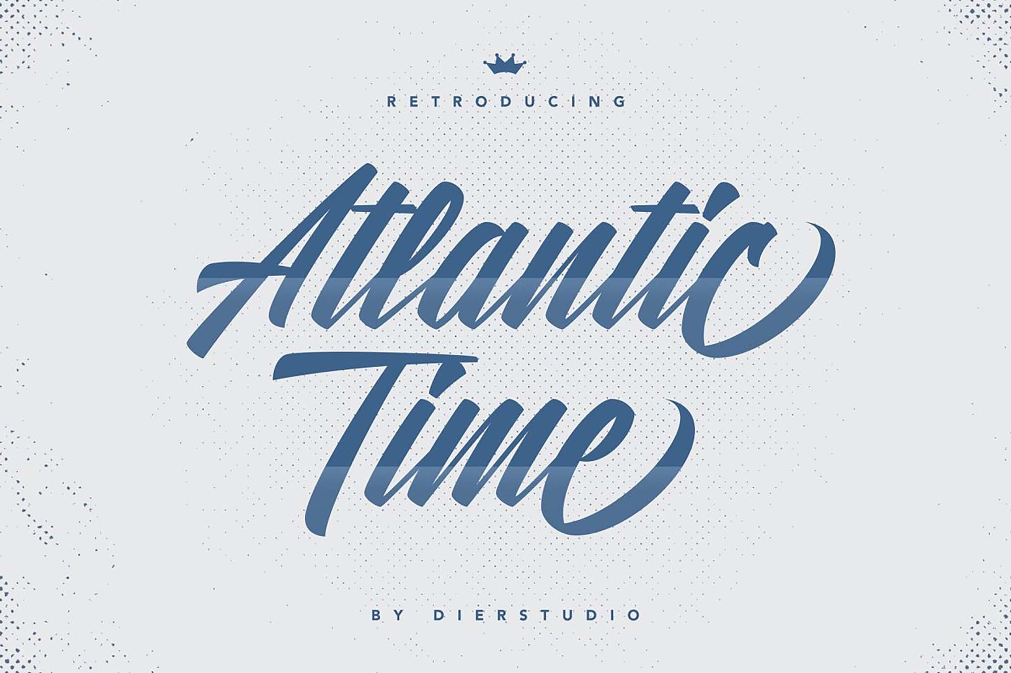 Atlantic Time Script Font 6
