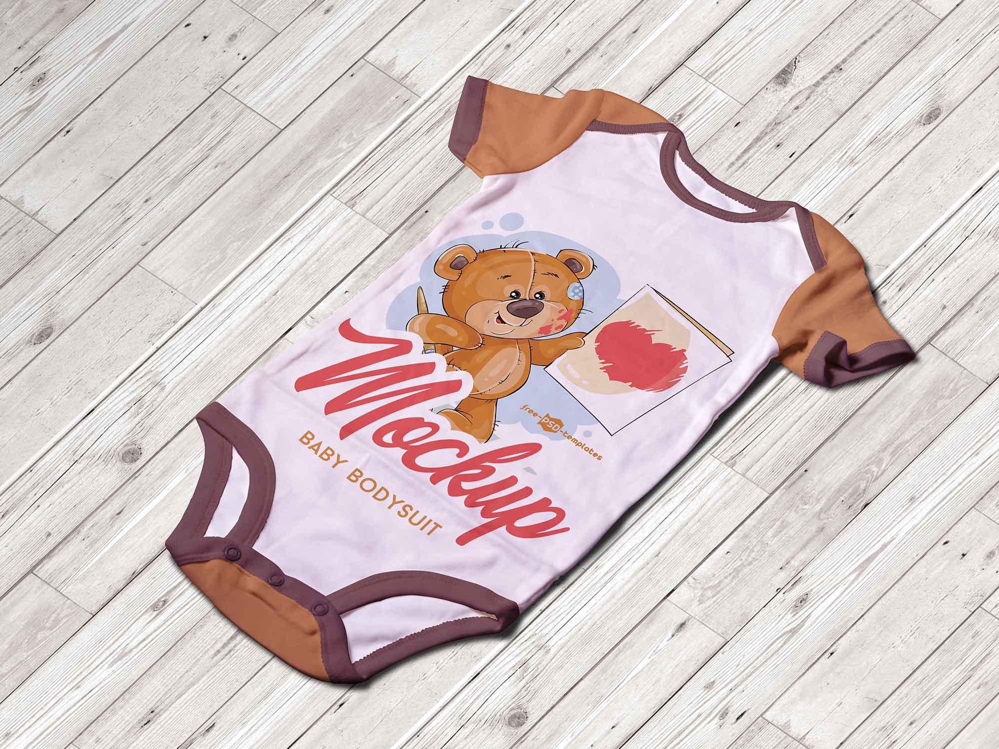 Baby Bodysuit Mockup 2