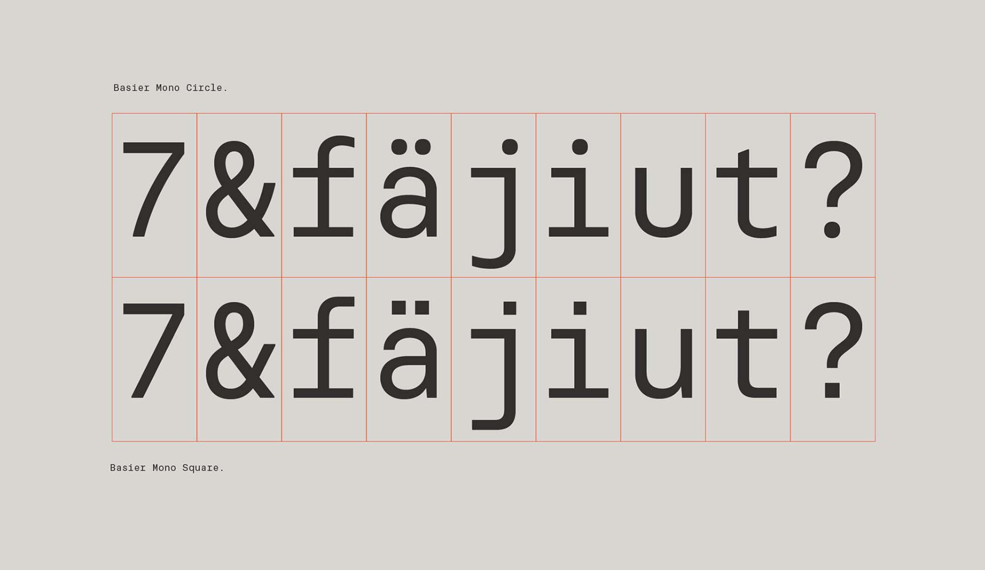 Basier Mono Font 1