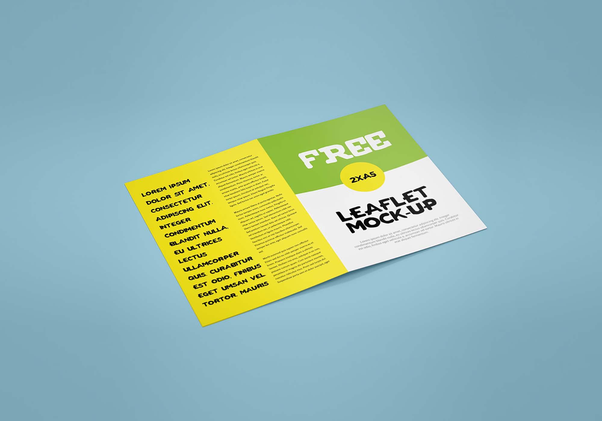 Bifold Leaflet Mockup 2