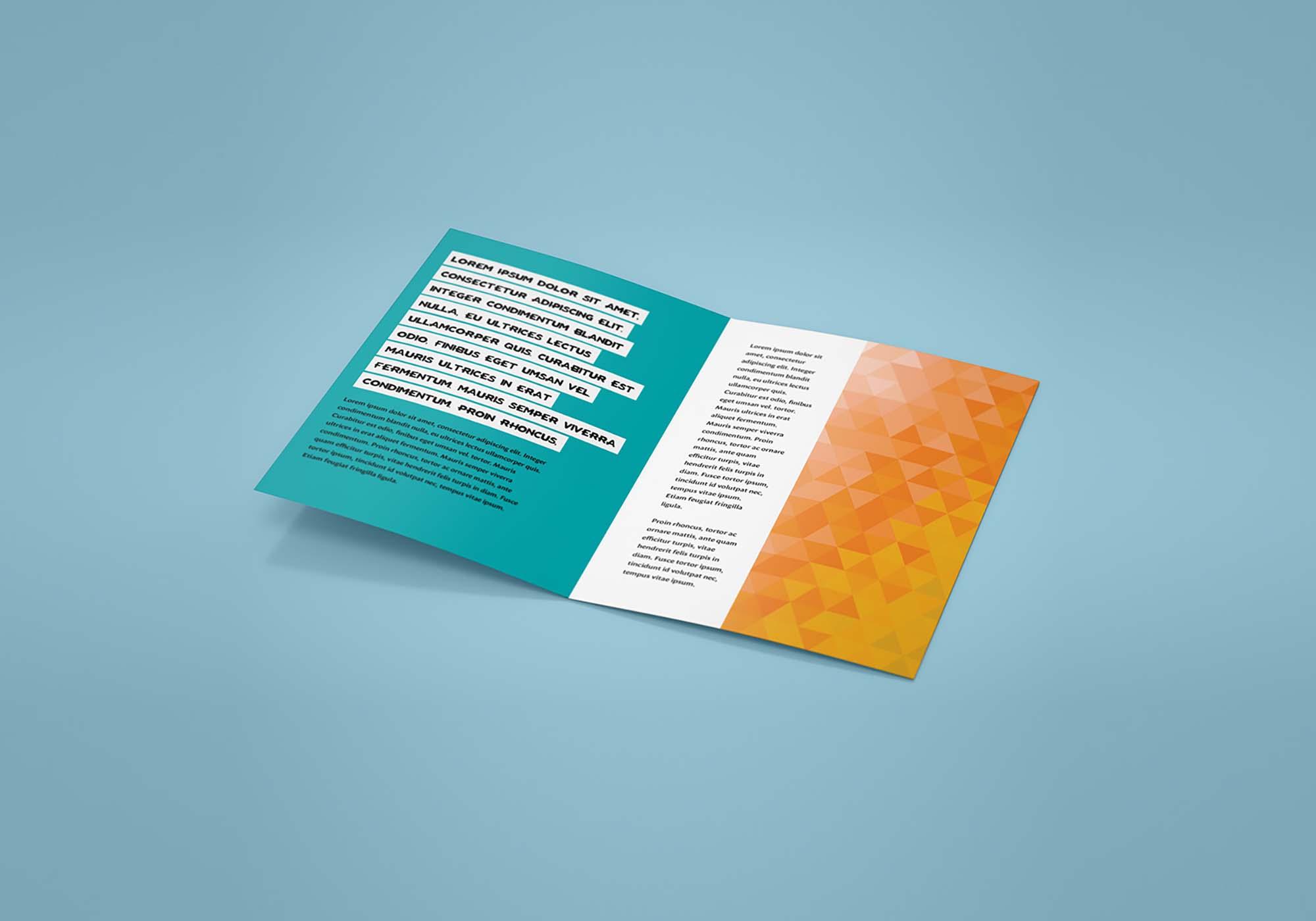 Bifold Leaflet Mockup 3