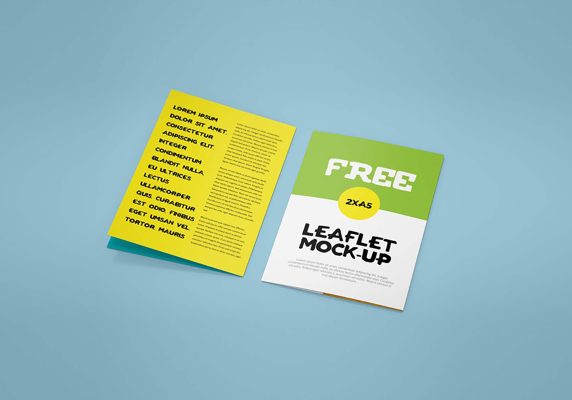 Bifold Leaflet Mockup 4