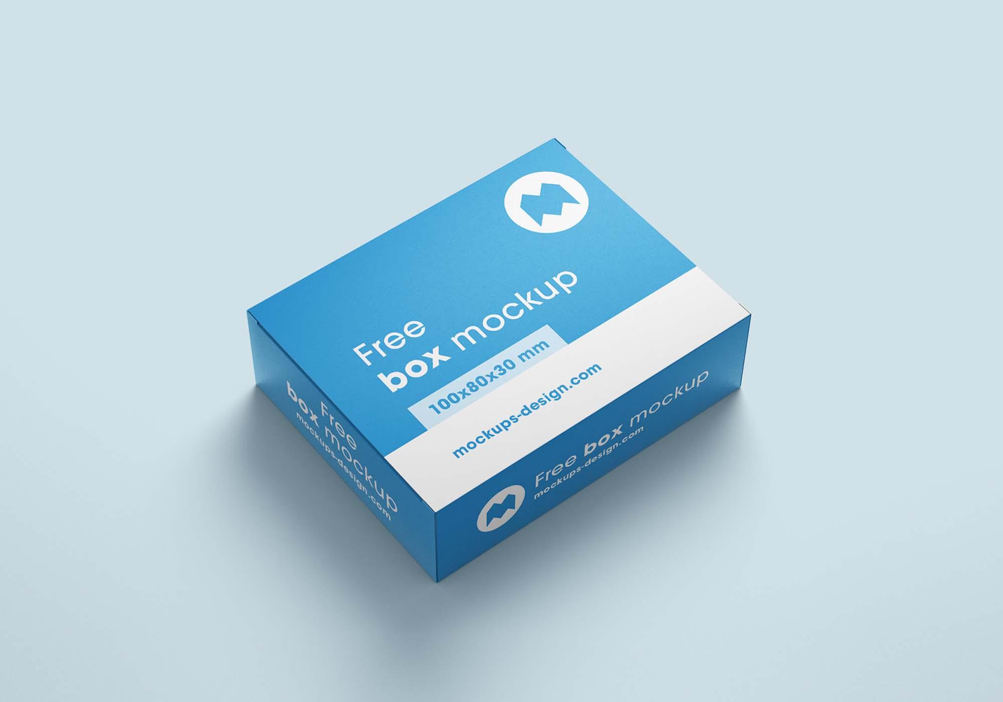 Box Mockup 3 (100x80x30)